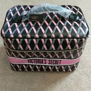 NWT Victoria's Secret train case with cosmetic bag